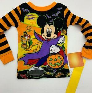 Disney Pijama Top Halloween Black Orange Sz: 2T